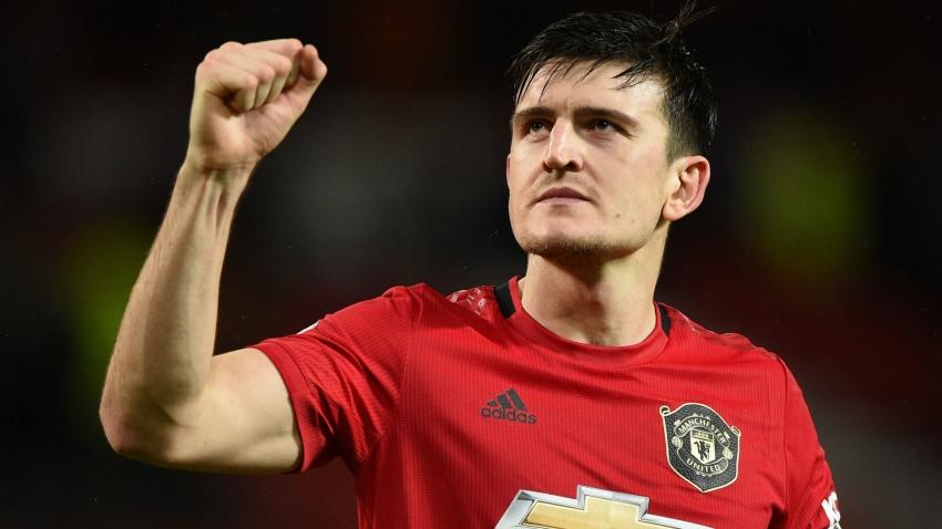 Maguire dengan seragam Man United