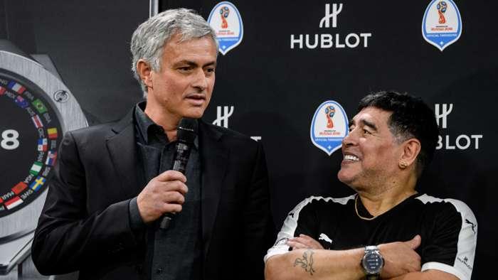 Maradona dan Mourinho memiliki hubungan yang spesial