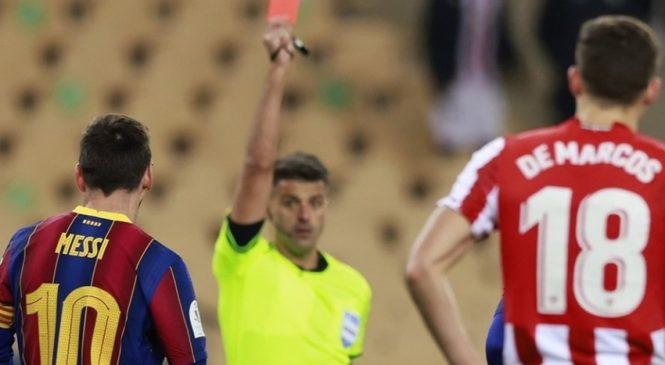3 kartu merah terkenal dalam karir Messi